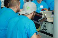 Hackathon - BIRNE7-Mitglider am Arbeiten