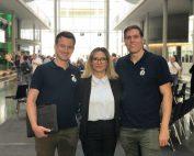 Sebastian Schroth, Fatma Ari und Maximilian Reymann zu Gast im Bundestag