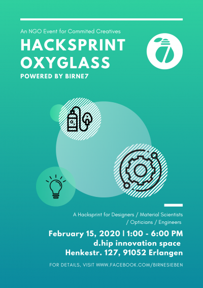 Oxyglass Hacksprint am 15.02.2020 um 13:00 Uhr, Digital Health Innovation Platform (d.hip), Henkestr. 127, Erlangen